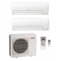 MITSUBISHI ELECTRIC MSZ-HR25VF+MSZ-HR35VF/MXZ-2HA40VF Condizionatore Dual 9+12btu A++ Inverter Caldo/Freddo GAS R32 (-65%)
