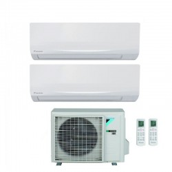 DAIKIN SIESTA ATXF25A+ATXF35A/2AMXF50A Condizionatore DUAL 9+12 A++ Caldo/Freddo GAS R32 Deumidificatore WiFi Opzionale (-65%)